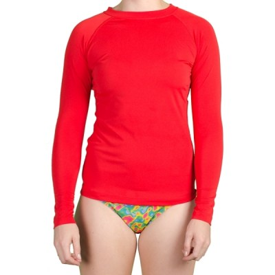 Sue Solid Rashguard - Fire Engine Red