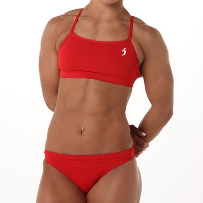 Natalie Workout Top - Fire Engine Red
