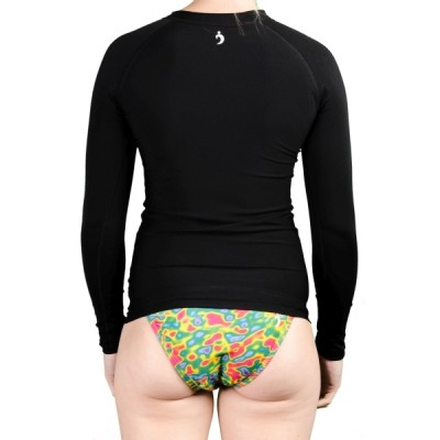 Sue Solid Rashguard - Midnight Black