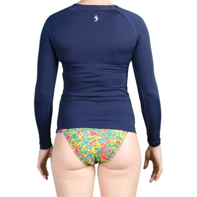 Sue Solid Rashguard - Blue Crush