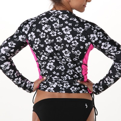 Shawna Ruched Rashguard - A Night in Maui
